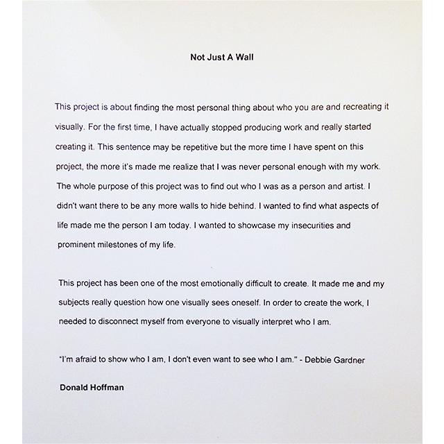Donald Hoffman 's Artist Statement at New York Film Academy