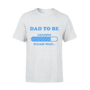 Dad To Be Loading Shirt, Men, Light Blue, Size L, Ultra Cotton - Woastuff