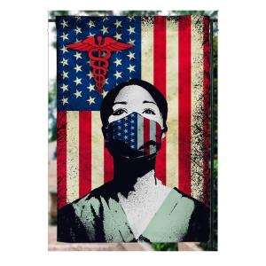 4th of July, Thank You Nurse, American Flag, Garden Flag, Canvas Material - Woastuff