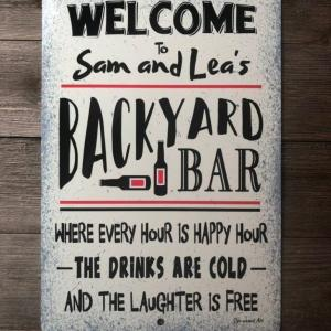 Back Yard Decorations, Metal Sign, Every Hour Is Happy Hour, Aluminum - Woastuff
