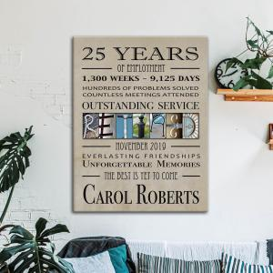 Retirement Gift For Colleague, Gift For Retired Friends, Men, Women, Poster Or Canvas, Wall Decor - Woastuff