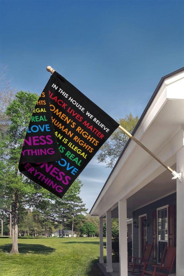 Black Lives Matter Garden Flag, Thick Canvas, Double Side, Kindness Quote - Woastuff