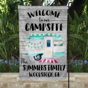 Best Custom Flag For Campsite, Camping Garden Flag, Campground Rustic Decor, Double Side, High Quality - Woastuff