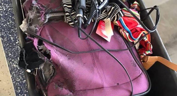 Αποτέλεσμα εικόνας για American Airlines sends shredded, greased passenger suitcase at Texas airport