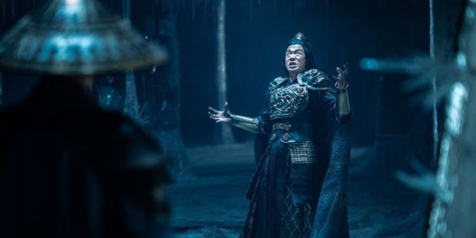 Shang Tsung (Chin Han) Arrives to Raiden's Temple
