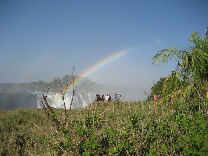 Victoria Falls - double rainbow