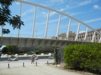 """Turin Gardens cycling/walking path and """"overpass"""""""