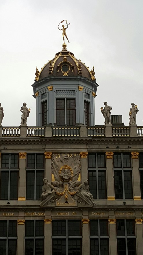 Restored dome in Grand Place