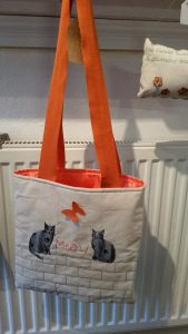Cat themed tote bag