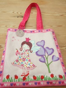 Fairy princess with ladybirds tote bag