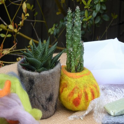 wet felting bowls workshop