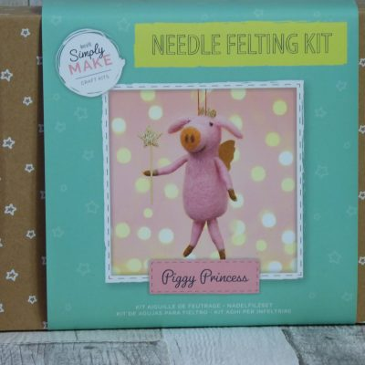 Picture of a Piggy Princess Needle felting kit from Simply Make.