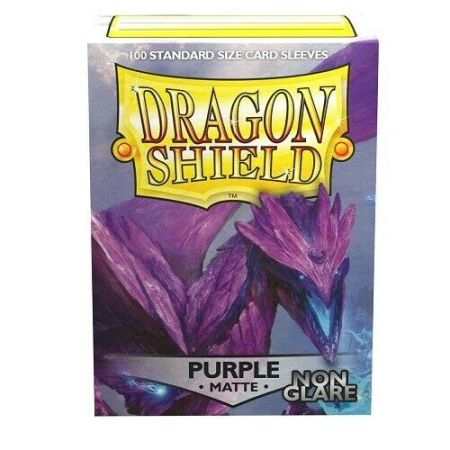 Box: Dragon Shield Standard Deck Protector Sleeves - Non Glare Matte Purple - Amifist AT-11809 |香港桌遊天地Welcome On Board Game Club Hong Kong|卡牌遊戲保護套