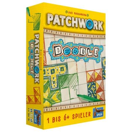 Patchwork Doodle 拼布對決:塗鴉 |香港桌遊天地Welcome On Board Hong Kong|紙筆俄羅斯方塊家庭單人雙人鬥智遊戲