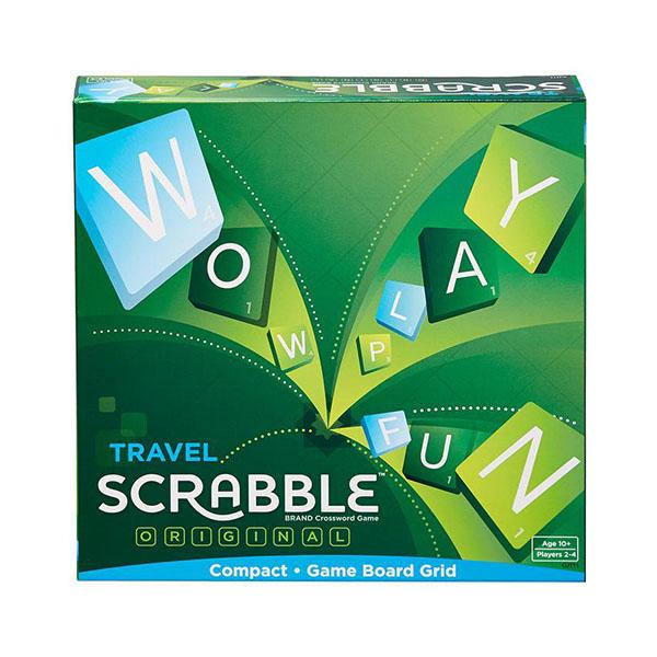 Cover: Scrabble Travel 英文拼字遊戲旅行裝 MATTEL|香港桌遊天地Welcome On Board Hong Kong|經典家庭學習遊戲Family Game