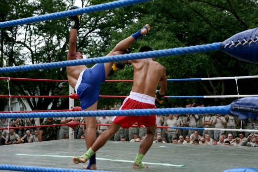 Competition Demonstration Muay Thai Athletic