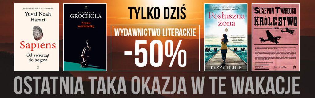 Tylko dziś Wydawnictwo Literackie -50%