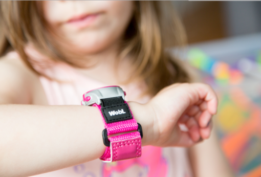 WobL pink alarm reminder watch
