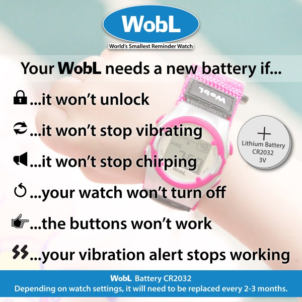 Signs your watch needs a fresh battery.