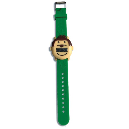 Potty Monkey Alarm Reminder watch showing band extended for potty and toilet training.