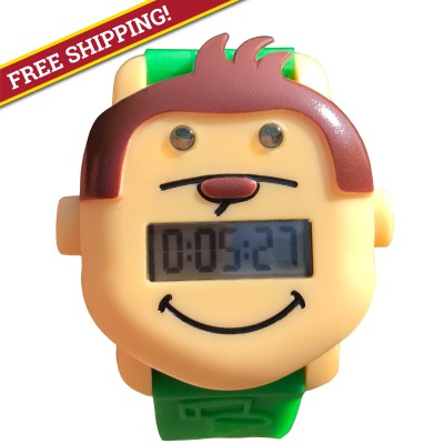 Potty Monkey Watch - free shipping on potty and toilet training alarm and countdown reminder watch.