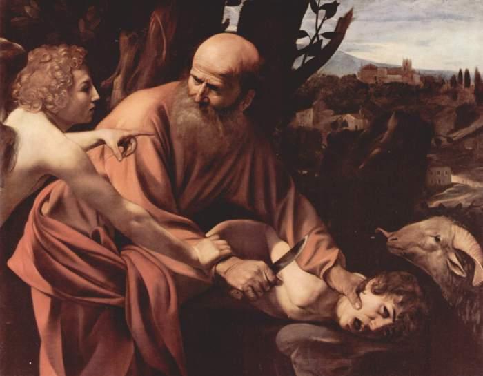 Abraham und Isaak Caravaggio