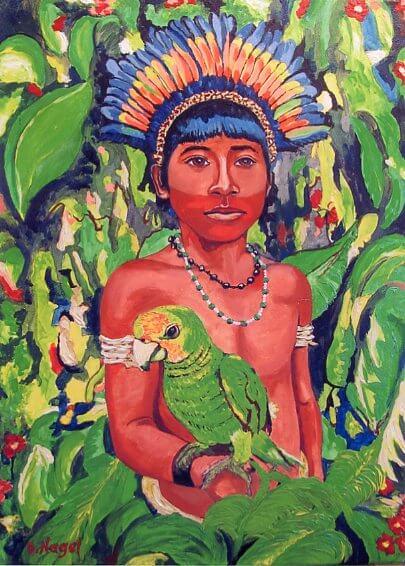 Pachamama wyłowiona lub okultystyczne tło