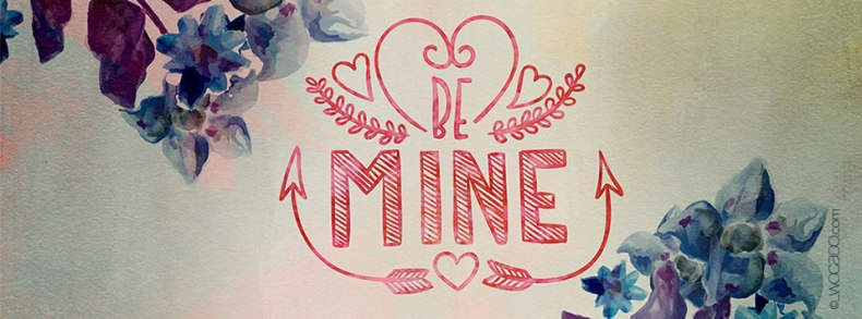 Be Mine Facebook Cover by WOCADO