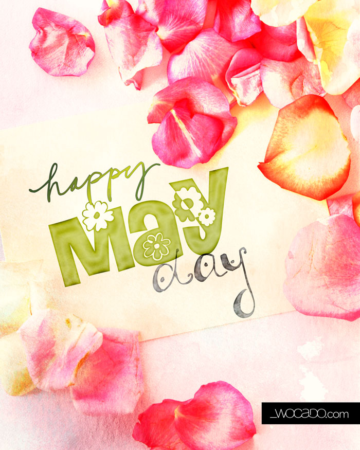 Happy May Day - 8x10 Printable by WOCADO