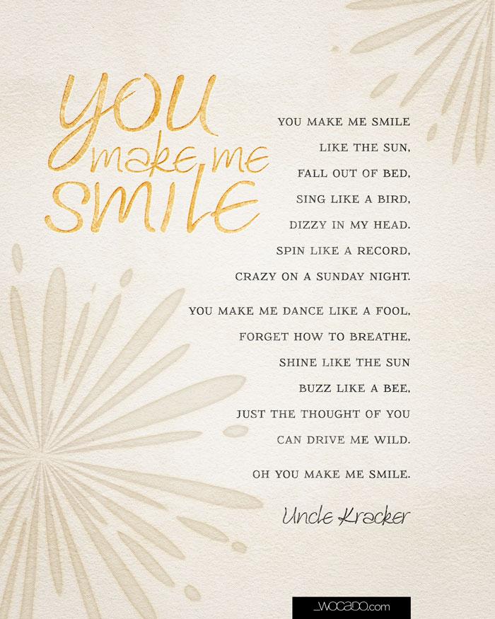 You make me smile printable 8x10 by WOCADO