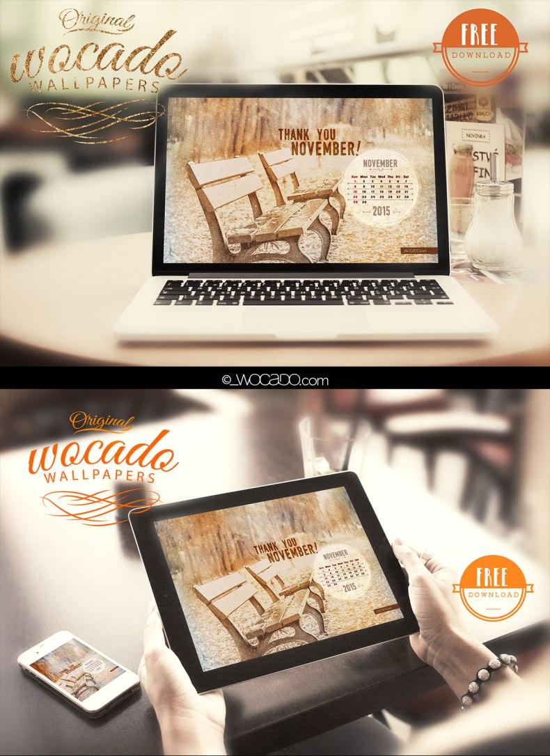 2015 November Wallpaper Calendar by WOCADO - FREE Download
