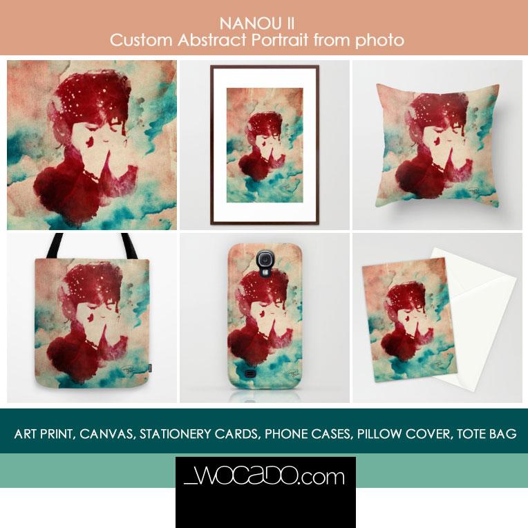 Nanou II - ArtPrint by Maya Lavda/wocado