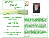 WOCCR day of renewal, July 14 flyer