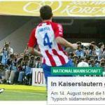 Deutscher Fußballbund kündigt Freundschaftsspiel gegen Paraguay an