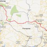 Cartes plant Paraguays Anschluss an die Verbindungsstrecke beider Ozeane