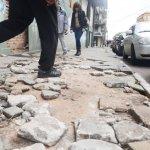 Gefährliche Gehwege in Asunción