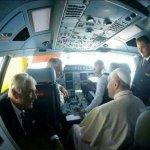 Letzter Gruß vom Papst aus dem Cockpit