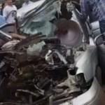 Tödlicher Unfall: Auto prallt gegen Bus