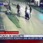 Mit der Machete Motorrad gestohlen