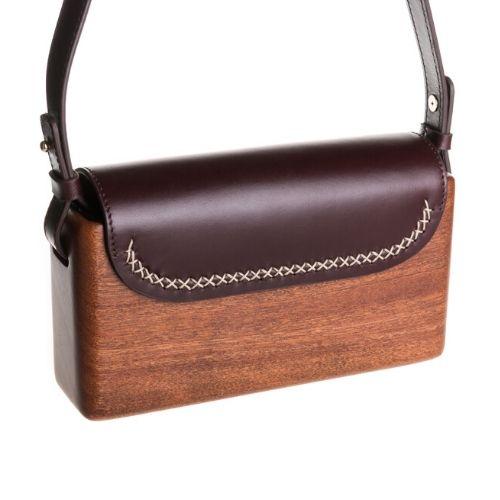 The Wagbag : Acajou cuir burgundy