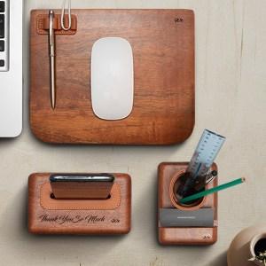 Idée Cadeau d'entreprise idée cadeau fête des pères tunisie porte carte cuir bois vide poche cuir bois amplificateur porte carte