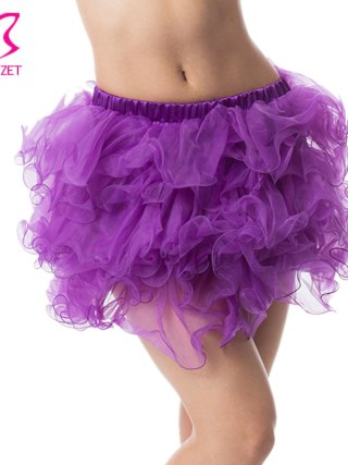 Adult Sexy Layered Ruffle Mini Tutu Skirt Women Burlesque Costume Pettiskirt Petticoats Clubwear Ball Gown Corset Underskirt