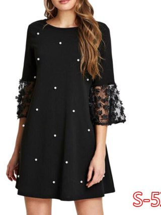 Spring Summer Women's Fashion Casual Loose Half Sleeve Elegant Dress O-Neck Polka Dot Plus Size 5XL Lace Dress vestidos