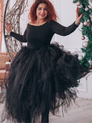 100cm Length Wedding DIY Skirt Tulle Overskirt Sexy Pleated Fashion Handmade Woman Tutu Female Long Skirt Lolita Saia Longa