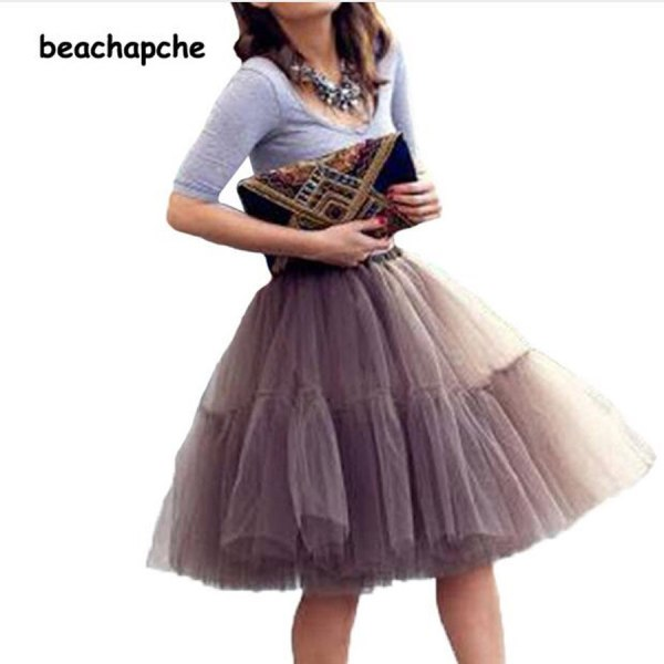Fashion 5 Layer New 17 Tulle Skirts winter Mini skirt Women Fashion Party Design Tut Skirts