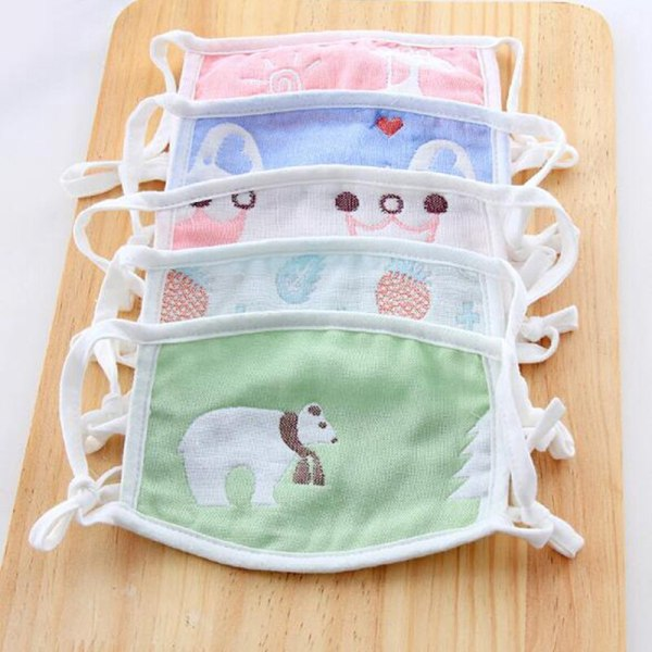 1pcs Cartoon Cute Design Mouth Face Mask For Kids Anti-Dust Non-disposable Fabric Masks With Respiration