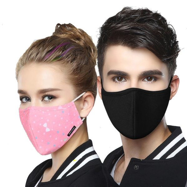Dust Mask Breathable Unisex Cotton Face Mask Reusable Anti Pollution Face Shield Wind Proof Mouth Cover Activated carbon filter