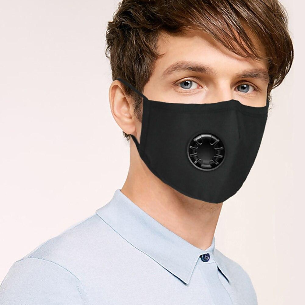 Unisex Face Reuseable Anti Dust Mask Cycling Washable Anti-Fog Mask With 6 Pcs Filter Ergonomic Design Travel Mouth Mask #40