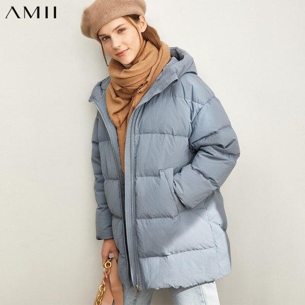 Ladies Down Jacket Informal Stable Unfastened Hooded Zipper