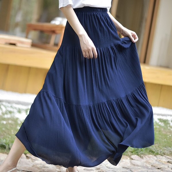 Bohemian Girls Stretch Excessive Waist Stable Lengthy Cotton